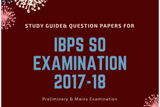 IBPS SO Question Papers