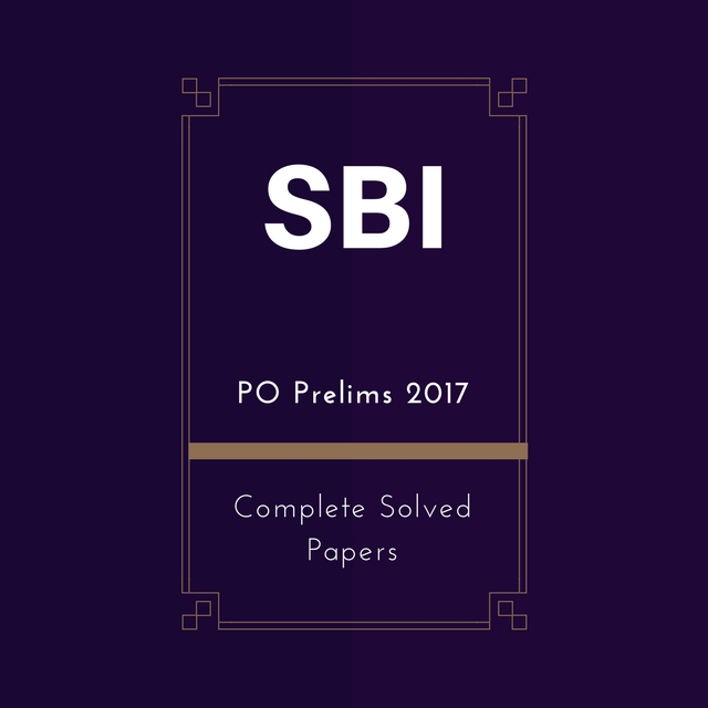 Sbi Po Preliminary Exam Solved Papers Pdf