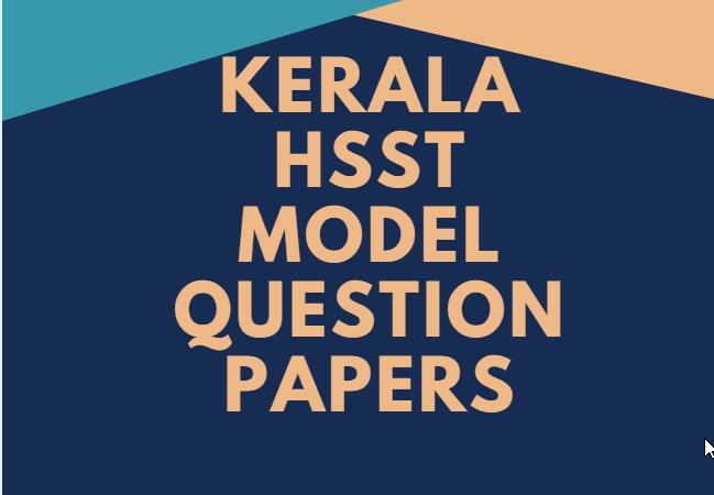 HSST Model Question papers