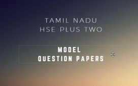 Tamilnadu HSE Model question papers