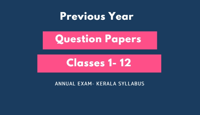 Model papers kerala syllabus for Annual exam