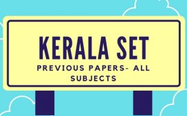 Kerala SET Old question papers