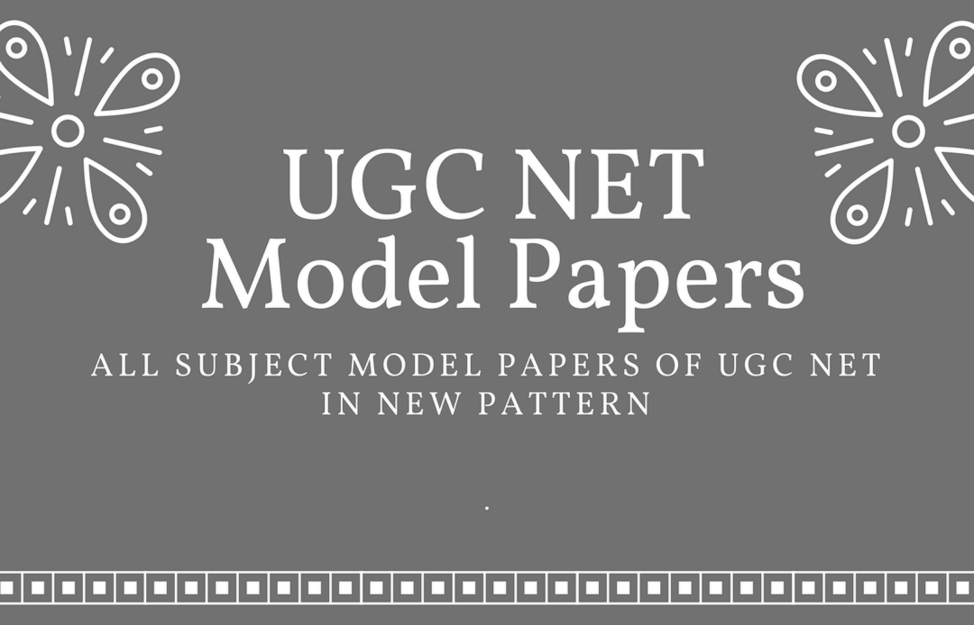 UGC NET New Pattern Model Question Papers- All Subjects • Education