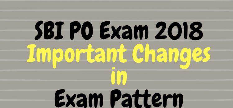 SBI PO Prelims Pattern Change