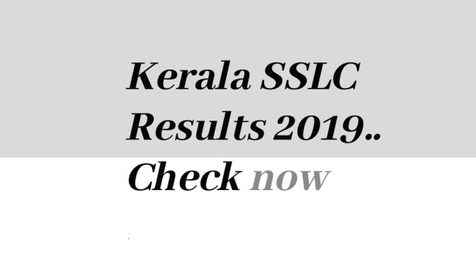 SSLC results 2019