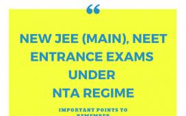 NTA JEE Mains and NTA NEET