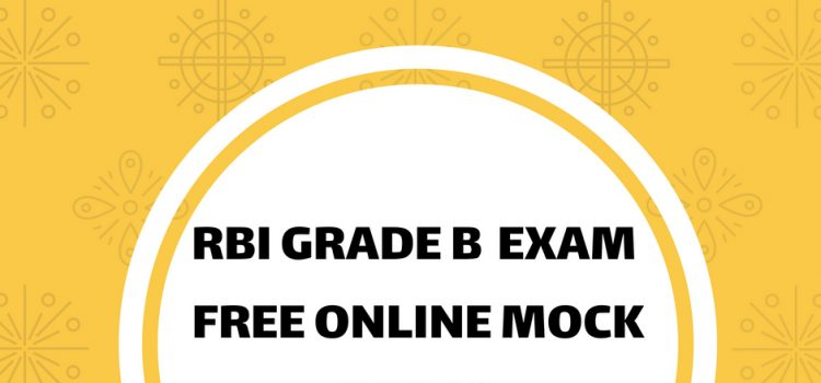 rbi grade b online mock tests