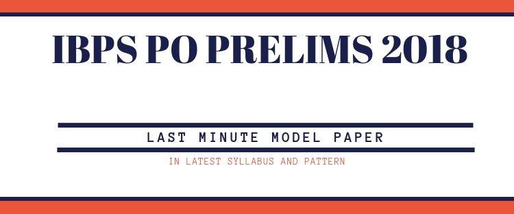 model paper for IBPS PO Prelims 2018