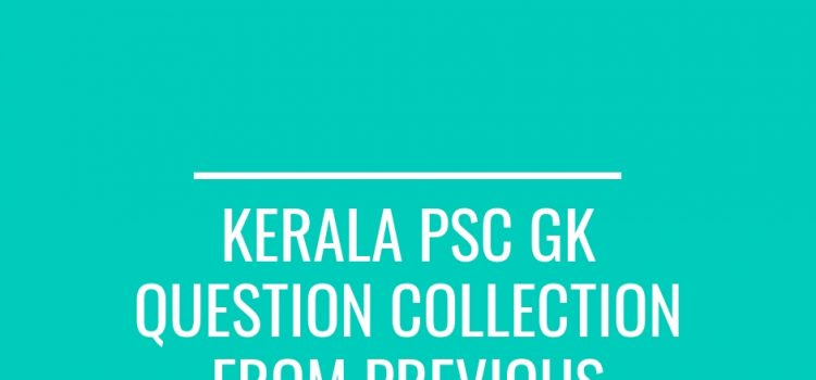 KPSC GK Question collection