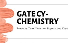 GATE CY Solved previous year question papers