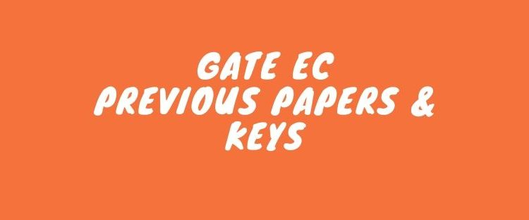 GATE EC Last year solved papers