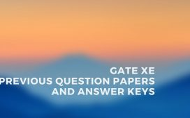 GATE XE Previous papers and answer keys