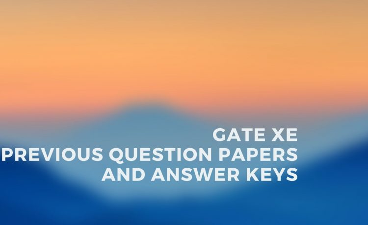 GATE XE Last 12 Year Solved Papers