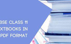 NCERT 11th Textbooks pdf