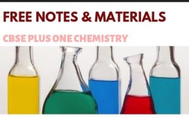free notes materials referances for plus one chemistry
